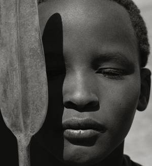 "Photo - Herb Ritts' ""Loriki with Spear, Africa,"" from 1993, is featured in the new exhibit ""Herb Ritts: Beauty and Celebrity"" at the Oklahoma City Museum of Art. Photo provided by the Herb Ritts Foundation. <strong></strong>"