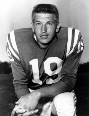 Photo - This is a July 18, 1960 photo of quarterback Johnny Unitas of the Baltimore Colts. Unitas, the Hall of Fame quarterback who broke nearly every passing NFL record and won three championships with the Baltimore Colts in an 18-year career. (AP Photo)