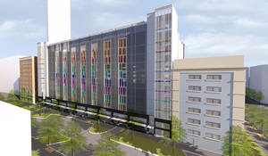 photo - Revised designs for the future downtown garage with housing and retail were approved Wednesday by the Oklahoma City Urban Renewal Authority. Drawings provided by TAP Architecture