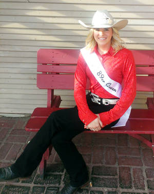Photo -  Dracyn Taylor, queen of 89er Days in Guthrie. PHOTO PROVIDED  <strong>PROVIDED</strong>