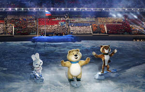 Photo - Robotic mascots perform during the opening ceremony of the 2014 Winter Olympics in Sochi, Russia, Friday, Feb. 7, 2014. (AP Photo/Robert F. Bukaty)