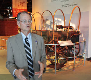 Photo - Bob Blackburn, executive director of the Oklahoma Historical Society, is shown at  the Oklahoma  History Center, talking about the importance of  remembering  historic events.  Photo by David McDaniel,  The Oklahoman