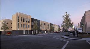 Photo - The Civic Center Flats, a 32-unit housing development, is being proposed for the northeast corner of Couch Drive and Lee Avenue north of the Civic Center Music Hall. <strong>Butzer Gardner Architects</strong>