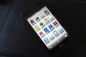 Photo - BlackBerry Z10. <strong> - PROVIDED BY AT&T</strong>