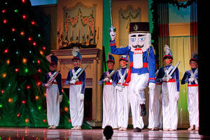 Cast members perform a scene from Act I of the Oklahoma Nutcracker, an annual production of the Norman Ballet Company. PHOTO PROVIDED