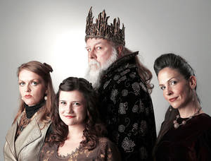 "Photo - From left are Erin Hicks-Cheek as Regan, Julia Devine as Cordelia, Hal Kohlman as King Lear and Mandee Chapman-Roach as Goneril. Shakespeare in the Park's ""King Lear"" will run through Sept. 28. Photo by Doug Hoke,  The Oklahoman"