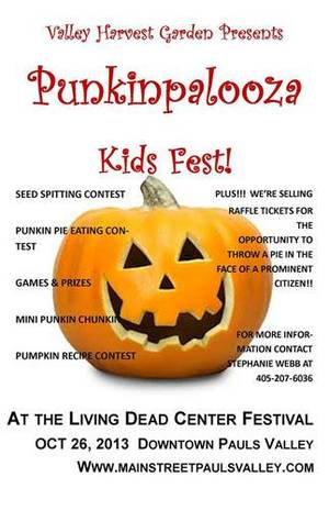 Photo - Flier for Punkinpalooza in Pauls Valley. (Pauls Valley Daily Democrat photo)