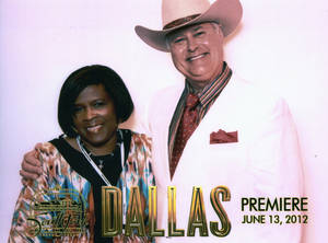 "Photo - Carla Hinton at premiere of the new ""Dallas""."