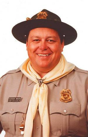 Photo - Mark Barrager as Ranger Roger. Archive photo. <strong></strong>