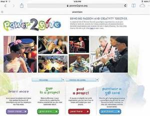 Photo - A screenshot shows the Powers2Give website. People will be able to crowdfund any central Oklahoma nonprofit arts organization through the site.