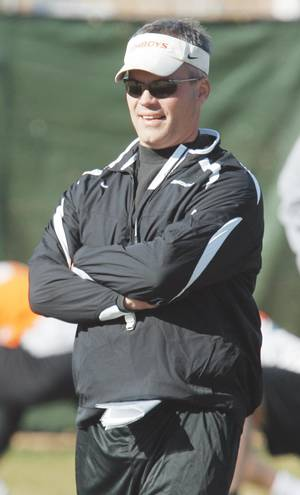 photo - Former OSU defensive coordinator Tim Beckman left Stillwater to be the head coach at Toledo. Photo BY NATE BILLINGS, THE OKLAHOMAN archive
