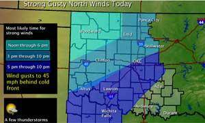 photo - Map provided by the National Weather Service - Norman
