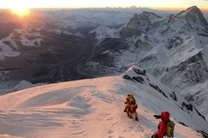 Photo - FILE - In this May 18, 2013 file photo released by mountain guide Adrian Ballinger of Alpenglow Expeditions, climbers make their way to the summit of Mount Everest, in the Khumbu region of the Nepal Himalayas. An avalanche swept down a climbing route on Mount Everest early Friday, April 18, killing at least 12 Nepalese guides and leaving three missing in the deadliest disaster on the world's highest peak. (AP Photo/Alpenglow Expeditions, Adrian Ballinger, File) MANDATORY CREDIT, EDITORIAL USE ONLY