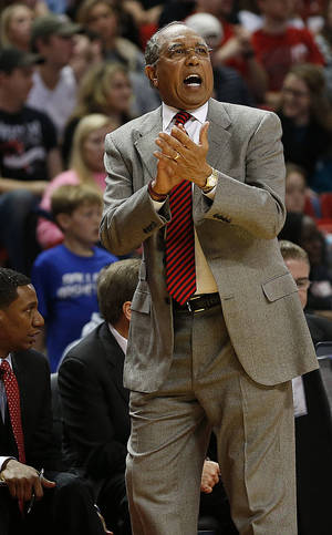 Photo - Tubby Smith's Texas Tech team is showing signs of a turnaround. Photo by Tori Eichberger, Lubbock Avalanche-Journal/AP