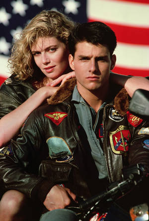 "Photo - Kelly McGillis and Tom Cruise star in ""Top Gun: An IMAX 3D Experience."" PARAMOUNT PICTURES PHOTO <strong></strong>"