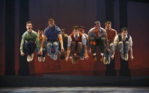 "Photo - Members of ""The West Side Story"" company.  Photo by Carol Rosegg"