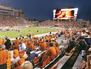 Photo - Darrell K Royal-Texas Memorial Stadium was a favorite among players. From The Oklahoman Archive