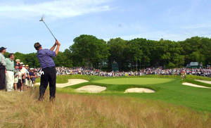 Photo - FILE - In this June 16, 2002, file photo, Phil Mickelson hits to the fifth green from the rough during the final round of the U.S. Open Golf Championship at the Black Course of Bethpage State Park in Farmingdale, N.Y. The PGA of America announced Tuesday, Sept. 17, 2013, that course will host the 2019 PGA Championship and 2024 Ryder Cup. (AP Photo/Mark Lennihan, File)
