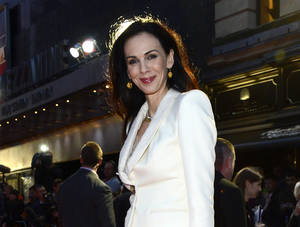 """Photo - FILE - This Oct. 18, 2012 file photo shows fashion designer L'Wren Scott at the London Film Festival American Express Gala for """"The Rolling Stones - Crossfire Hurricane"""", in London. Scott is to be remembered on Friday, May 2, 2014, at a Manhattan memorial service, expected to be attended by her longtime companion, Mick Jagger, and others close to her. The service for Scott, a noted fashion designer and stylist who committed suicide March 17, will be held at St. Bartholomew's Church.  (Photo by Jon Furniss/Invision, File)"""