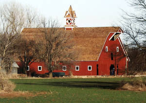 "photo - The barn on the ""Charlie's Place"" homestead has been restored, along with its original cupola. <strong> - Provided</strong>"