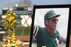 Photo - Mickey Sullivan's memorial service was held at Baylor Ballpark on March 26.  PHOTO COURTESY BAYLOR SPORTS INFORMATION