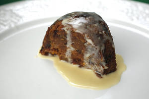 Photo - Serve Dave's Figgy Pudding with a tasty Creme Anglaise recipe created by chef John Bennett. Photo by Doug Hoke, The Oklahoman