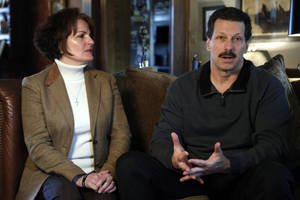 Photo - Vicki and Scott Behenna talk about the parole of their son, former U.S. Army 1st Lt. Michael Behenna, on Wednesday at their home in Edmond. Photo by Sarah Phipps, The Oklahoman <strong>SARAH PHIPPS - THE OKLAHOMAN</strong>