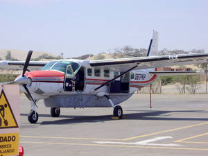 Photo -  A flight in this Cessna Grand Caravan takes visitors from the airport at Ica, Peru, across the Nazca Plain. Photo courtesy of Steve Murray.