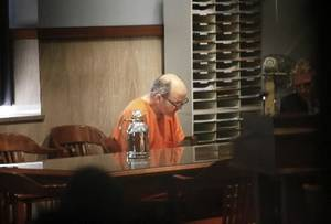photo - Dr.  Stephen  Wolf sits in Judge Virgil Black&#039;s courtroom in the Oklahoma County Courthouse in Oklahoma City, Oklahoma December 18, 2009. Photo by Steve Gooch