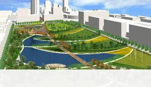 Photo - The MAPS 3 downtown park master plan was approved by the Oklahoma City Council on Jan. 7. Rendering provided <strong> - Hargreaves Associates file</strong>