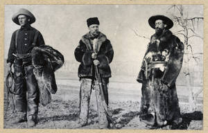 Photo - This 1886 photo provided by the Library of Congress via the Theodore Roosevelt Center shows Wilmot Dow, left, Theodore Roosevelt and William Wingate Sewall posing near the Little Missouri River in Western garb. Roosevelt met the pair of men in Maine where they acted as hunting guides to a young Roosevelt. The former president later asked Dow and Sewell to manage his Elkhorn Ranch in the western North Dakota badlands. The ranch remains in what is now the Theodore Roosevelt National Park. The Theodore Roosevelt Center at Dickinson State University in North Dakota has been archiving notes, letters and photographs of Roosevelt since 2007 and is working to open his presidential library by 2019. (AP Photo/Library of Congress via the Theodore Roosevelt Center)