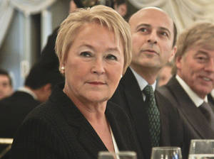 Photo - Pauline Marois, Premier of Quebec, at the Foriegn Policy Association luncheon where she delivered a keynote address on Thursday, Dec. 13, 2012, in New York.  (AP Photo/Bebeto Matthews)