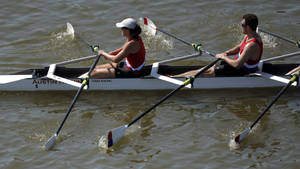 photo - Rowers compete in the USRowing Masters National Championships on the Oklahoma River, Sunday, Aug. 14, 2011. Photo by Sarah Phipps, The Oklahoman