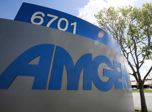 Photo - FILE - This April 20, 2010 file photo, shows the exterior view of Amgen Inc. in Fremont, Calif. Amgen reports quarterly earnings on Tuesday, April 22, 2014. (AP Photo/Paul Sakuma, File)