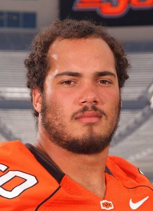 photo - OSU junior defensive end Jamie Blatnik,