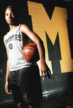 photo - Midwest City's Richa Jackson has been named to the McDonald's and Parade All-America teams. The 6-foot-1 Jackson is a Duke signee. Photo By John Clanton, The Oklahoman