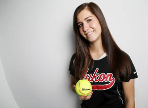 photo - Madi Ellis, Yukon High School softball player and Big All-City Player of the Year, poses for a photo in Oklahoma City, Monday, Nov. 19, 2012. Photo by Nate Billings, The Oklahoman