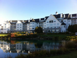 Photo - The Ostoff Resort is pictured on the shore of Elkhart Lake in Wisconsin. Photo by Brianna Bailey, The Oklahoman <strong></strong>
