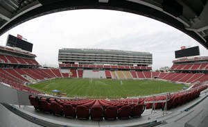 Photo - FILE - This April 21, 2014 file photo shows  the new Levi's Stadium during a preview tour in Santa Clara, Calif. The Pac-12 Conference will announce at a news conference Thursday May 15, 2014, that it is moving the league championship game to the San Francisco 49ers' new stadium in Santa Clara, a person familiar with the decision said.  (AP Photo/Eric Risberg, file)