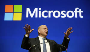 Photo - FILE - This file photo taken Nov. 19, 2013, shows then Microsoft CEO Steve Ballmer during the company's annual shareholders meeting in Bellevue, Wash. An individual with knowledge of negotiations to sell the Los Angeles Clippers said Shelly Sterling has reached an agreement to sell the team to Ballmer for $2 billion. The individual, who wasn't authorized to speak publicly, told The Associated Press on Thursday, May 29, 2014, that Ballmer and the Sterling Family Trust now have a binding agreement. The deal now must be presented to the NBA. Ballmer beat out bids by Guggenheim Partners and a group including former NBA All-Star Grant Hill. (AP Photo/Elaine Thompson, File)