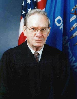 Photo - Ralph Hodges Retired Oklahoma  Supreme Court justice