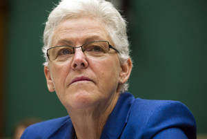 Photo - FILE - In this Sept. 18, 2013 file photo, EPA administrator Gina McCarthy testifies on Capitol Hill, in Washington. McCarthy denyied Republican claims that the agency delayed formal publication of rules intended to limit carbon pollution from new power plants for political reasons. (AP Photo/Cliff Owen, File)