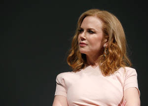 "Photo - IMAGE DISTRIBUTED FOR FOX SEARCHLIGHT - Actress Nicole Kidman speaks onstage at Fox Searchlight's ""The Stoker"" premiere during the Sundance Film Festival on Sunday, Jan. 20, 2012 in Park City, Utah. (Photo by Todd Williamson /Invision for Fox Searchlight/AP Images)"
