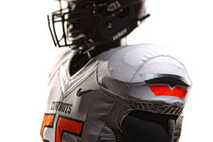 Photo - Oklahoma State's new football uniforms. Pictured here are the silver jersey and the black helmet. PHOTO PROVIDED