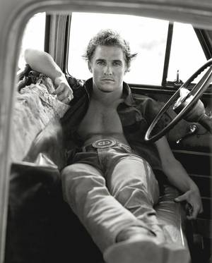 "Photo - Herb Ritts' ""Matthew McConaughey, Palmdale,"" from 1996, is featured in the new exhibit ""Herb Ritts: Beauty and Celebrity"" at the Oklahoma City Museum of Art. Photo provided by the Herb Ritts Foundation. <strong></strong>"