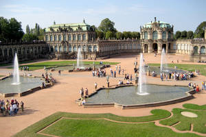 photo - The lovely Zwinger palace complex is seen in Dresden, Germany. Photo by Cameron Hewitt