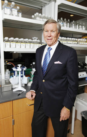Photo - Dr. Stephen Prescott, president of the Oklahoma Medical Research Foundation, in OMRF's Genomics Core Facility in Oklahoma City.
