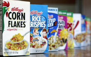 Photo - FILE - This Feb. 1, 2012, file photo, shows Kellogg's cereal products, in Orlando, Fla. Kellogg Co. reports quarterly earnings on Thursday, Feb. 6, 2014. (AP Photo/John Raoux, File)