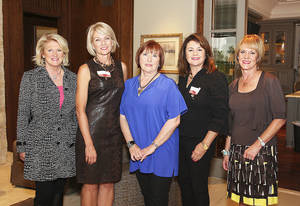 Photo - Barbara Simons, Amy Dunn, Cassie Bowen, Elaine Jackson, Lori Hill.  PHOTOs BY DAVID FAYTINGER, FOR THE OKLAHOMAN