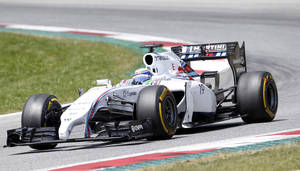Photo - Williams driver Felipe Massa of Brazil steers his car during the Austrian Formula One Grand Prix race at the Red Bull Ring in Spielberg, Austria, Sunday, June 22, 2014.  (AP Photo/Darko Bandic)